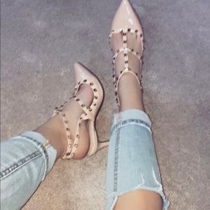 Sam Edelman studded wrap heels